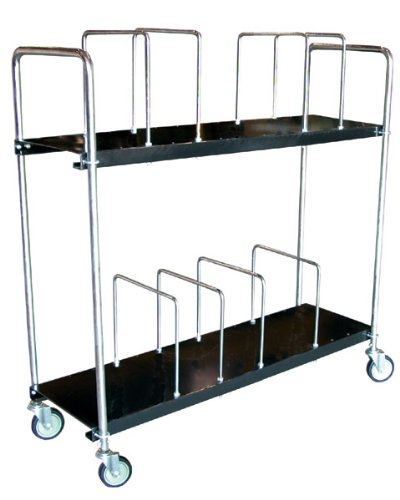 Vestil-CTC-1856-B-Steel-Carton-Cart-2-Tiers-Black-400-lb-Load-Capacity-59-18-x-19-1316-x-56-12-0-0