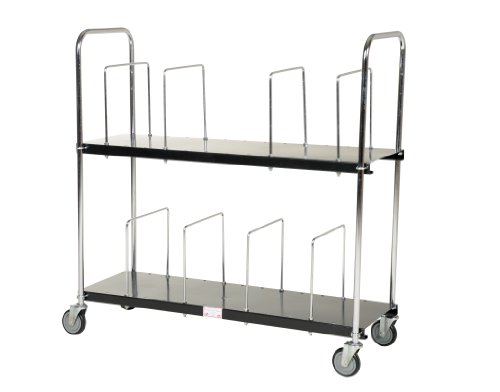 Vestil-CTC-1856-B-Steel-Carton-Cart-2-Tiers-Black-400-lb-Load-Capacity-59-18-x-19-1316-x-56-12-0-1
