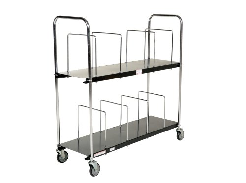 Vestil-CTC-1856-B-Steel-Carton-Cart-2-Tiers-Black-400-lb-Load-Capacity-59-18-x-19-1316-x-56-12-0