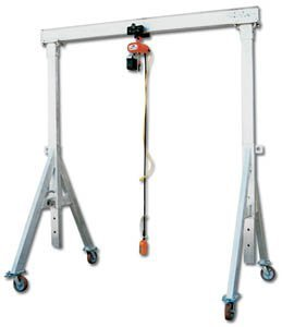 Vestil-Mfg-Co-4000-Capacity-Adjustable-Height-Aluminum-Gantry-Crane-Aha-4-12-8-Cap-Lbs-4000-Beam-Length-12-Clear-Under-Beam-58-82-Wt-Lbs-352-Aha-1-12-8-0
