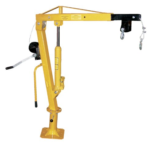 Vestil-WTJ-2-Winch-Operated-Truck-Jib-Crane-Welded-Steel-1000-lbs-Retracted-Capacity-56-Overall-Height-Yellow-0-0