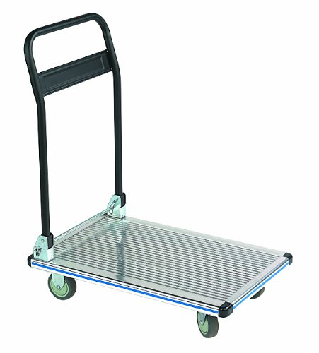 Wesco-272112-Aluminum-Platform-Truck-with-Folding-Handle-550-lb-Load-Capacity-35-12-Height-35-12-Depth-x-24-Width-0
