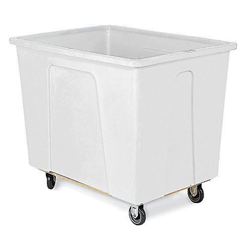 Wesco-272505-32-Gallons-4-Bushels-Plastic-Box-Truck-Polyurethane-Wheels-350-lb-Load-Capacity-21-14-Height-32-Length-x-20-34-Width-White-0