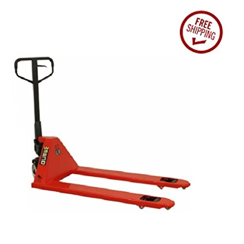 Wesco-272660-CPI-Series-Pallet-Truck-with-Handle-Polyurethane-Wheels-5500-lbs-Load-Capacity-48-14-Height-48-Length-x-27-Width-0-1