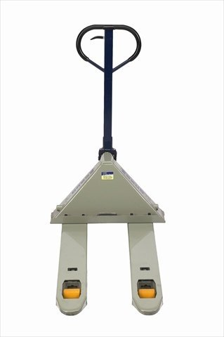 Wesco-272744-Deluxe-Adjustable-Fork-Pallet-Truck-with-Handle-Polyurethane-Wheels-5500-lbs-Load-Capacity-47-Height-48-Length-x-27-Width-0