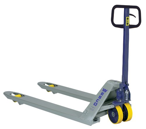 Wesco-Industrial-Products-272748-Standard-Deluxe-Pallet-Truck-with-Handle-Moldon-Polyurethane-Wheels-5500-lb-Load-Capacity-63-Length-x-27-Width-x-48-Height-0