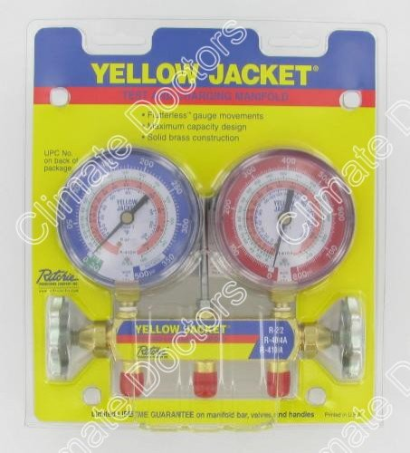Yellow-Jacket-42001-Manifold-with-3-18-Color-Coded-Gauges-psi-R-22404A410A-Clamshell-0