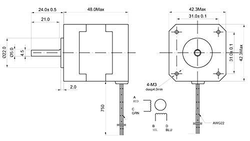 10-pcs-NEMA17-Stepper-Motor-for-3D-Printer-KL17H248-15-4A-76-oz-in-0-0