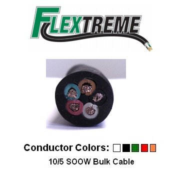 105-AWG-Bulk-Cable-100-Foot-SOOW-Jacket-30-Amps-5-Wire-600V-Water-and-Oil-Resistant-0