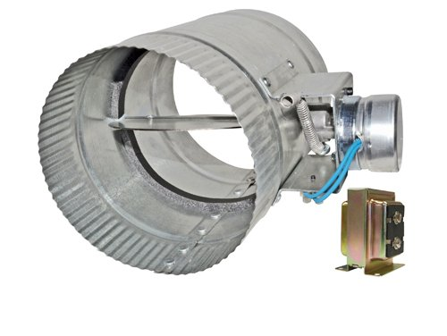 12 inch diameter normally open electronic hvac air duct damper with power supply online tools Motorized duct damper