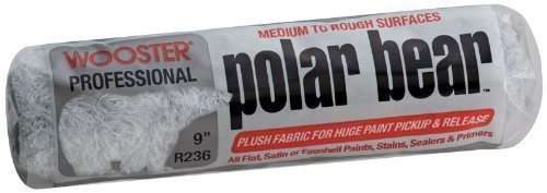 12-Pack-Wooster-R236-9-Polar-Bear-9-Professional-Roller-Cover-for-Medium-to-Rough-Surfaces-0