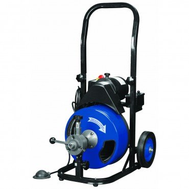 12-inch-by-50-feet-Power-Feed-Drain-Cleaner-Drum-Auger-Snake-1-to-4-pipes-with-Built-in-GFCI-and-many-Accessories-0
