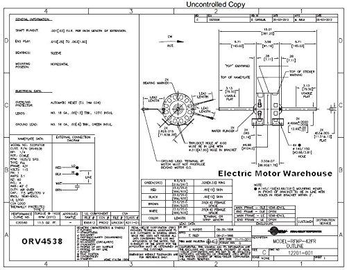14HP-115-Volt-1625RPM-2-speed-Coleman-6757B311-RV-Air-Conditioner-Motor-AO-Smith-ORV4538-0-0
