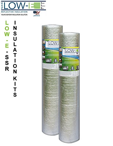 2-PACK-Wholesale-Lot-ESP-Low-E-SSR-Reflective-Foam-Core-Insulation-Kit-2-Rolls-Size-48×25-Includes-25-Foil-Tape-per-roll-Knife-Squeegee-Multipurpose-Home-Insulation-For-Your-Building-Project-or-Just-E-0