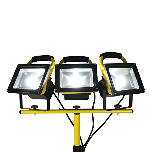 20-Watt-LED-Portable-Worklight-Floodlights-wTelescoping-Tripod-1900-Lumens-Set-of-3-0