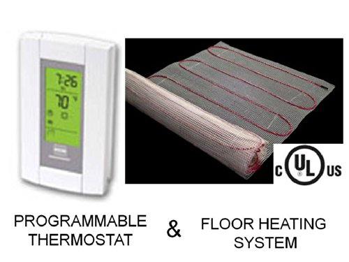 30-Sqft-Mat-Electric-Radiant-Floor-Heat-Heating-System-with-Aube-Digital-Floor-Sensing-Thermostat-0