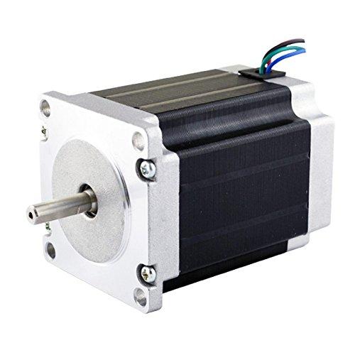 3pcs nema 23 cnc stepper motor 2 8a 76mm bipolar for Nema 23 motor mount plate
