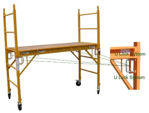 4-Set-of-6-feet-Multi-Purpose-Scaffold-Rolling-Tower-Baker-Style-Scaffold-with-U-Lock-0-0