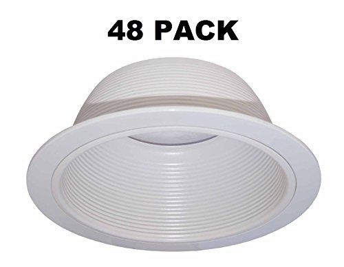 6-Inch-White-Baffle-Recessed-Can-Light-Trim-Replaces-HALO-310-W-JUNO-24W-WH-48-PACK-0