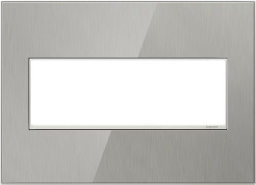 Adorne-3-Gang-Brushed-Stainless-Wall-Plate-0
