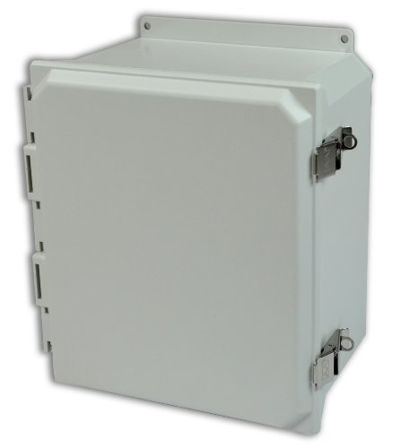 Allied-Moulded-AMU1860LF-Ultraline-Series-Fiberglass-JIC-Size-Junction-Box-Snap-Latch-and-Hinged-Cover-with-Mounting-Flanges-and-Opaque-Cover-0