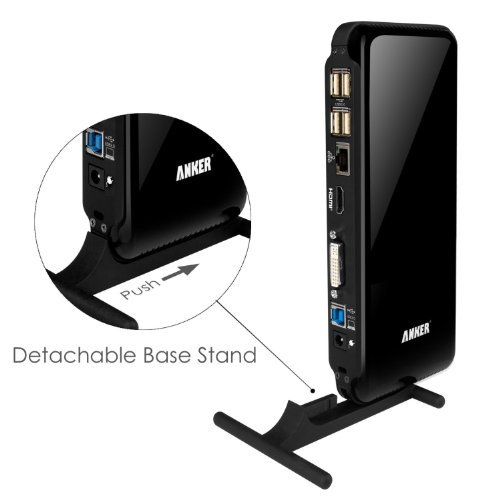 Anker-Dual-Display-Universal-Docking-Station-with-DVIHDMI-up-to-2048-x-1152-Audio-Gigabit-Ethernet-6-USB-ports-2-USB-30-4-USB-20-38W-Adapter-Supports-Surface-Pro-2-3-and-more-0-1