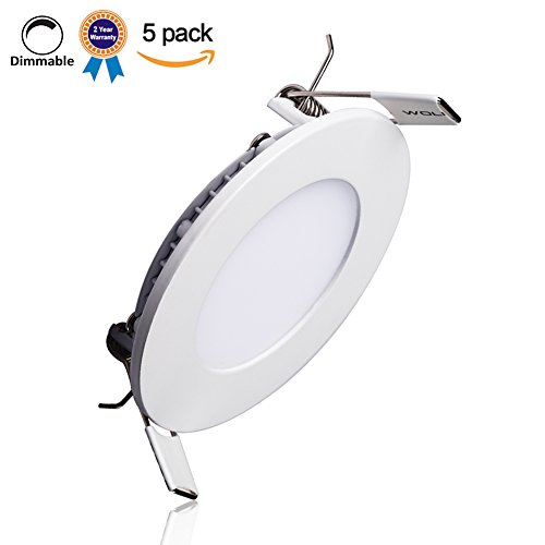 B-right-Pack-of-5-Units-Dimmable-Round-LED-Recdessed-Panel-Light-0