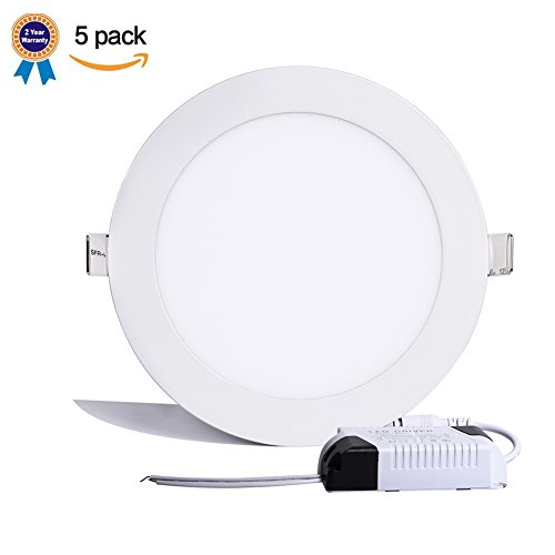B-right-Pack-of-5-Units-Round-LED-Recessed-Panel-Light-0