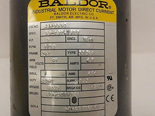 BALDOR-CDP3330-56C-Frame-TENV-DC-Motor-05-hp-1750-rpm-3336P-F1-90V-Armature-Voltage-0-0
