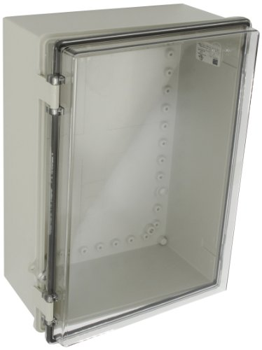 BUD-Industries-NBB-10271-Style-B-Plastic-Indoor-Box-with-Clear-Door-14-3364-Length-x-10-3564-Width-x-5-5764-Height-Light-Gray-Finish-0