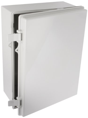 BUD-Industries-NBB-15247-Style-B-Plastic-Outdoor-NEMA-Box-with-Solid-Door-15-4364-Length-x-11-2332-Width-x-6-1964-Height-Light-Gray-Finish-0