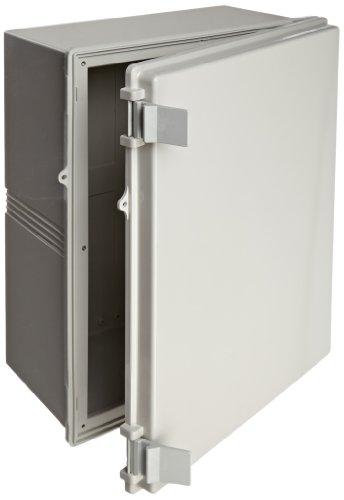 BUD-Industries-NBB-22253-Style-B-Plastic-NEMA-Box-with-Solid-Indoor-19-6364-Length-x-14-58-Width-x-7-2732-Height-Light-Gray-Finish-0