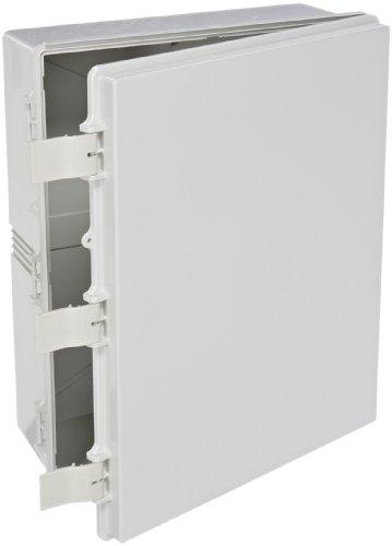 BUD-Industries-NBF-32332-Plastic-Outdoor-NEMA-Economy-Box-with-Solid-Door-19-4364-Length-x-15-4764-Width-x-6-932-Height-Light-Gray-Finish-0