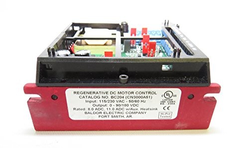 Baldor bc204 regenerative dc motor control 115 230 1 phase for Baldor 2 hp single phase motor