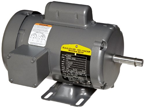 Baldor-L3504-General-Purpose-AC-Motor-Single-Phase-56-Frame-TEFC-Enclosure-12Hp-Output-1725rpm-60Hz-115230V-Voltage-0