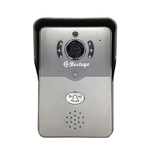 Besteye-BE01-Smart-Wifi-Video-Doorbell-HD720P-IR-Night-Audio-Wireless-Camera-for-Smart-Phone-Pad-GraySilver-0-0