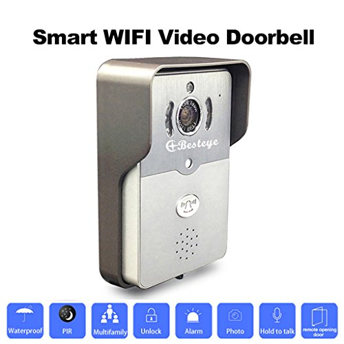 Besteye-BE01-Smart-Wifi-Video-Doorbell-HD720P-IR-Night-Audio-Wireless-Camera-for-Smart-Phone-Pad-GraySilver-0