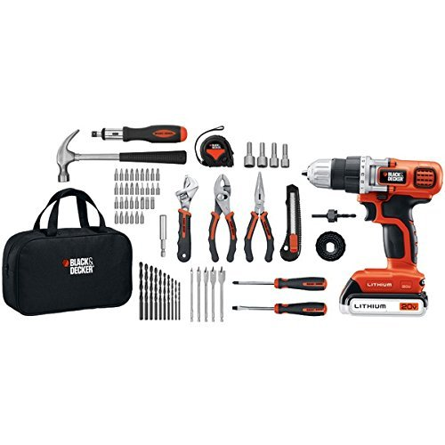 Black-Decker-LDX120PK-20-Volt-MAX-Lithium-Ion-Drill-and-Project-Kit-0-0