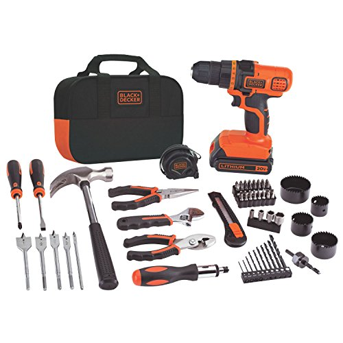 Black-Decker-LDX120PK-20-Volt-MAX-Lithium-Ion-Drill-and-Project-Kit-0