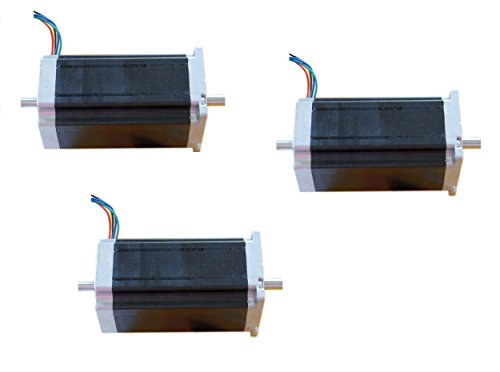 DC-HOUSE-3pcs-NEMA-23-Dual-Shaft-Stepper-Motor-425ozin-3A-4-Leads-23HS9430B-CNC-0