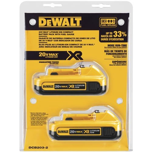 DEWALT-DCB203-2-20V-Max-Compact-XR-Li-Ion-Compact-Battery-2-Pack-0-0