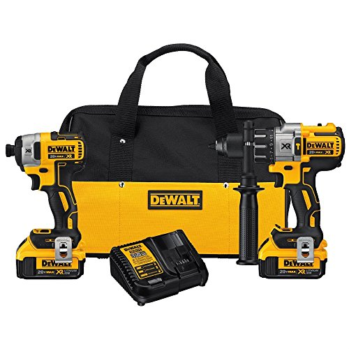 DEWALT-DCK299M2-20V-MAX-XR-Lithium-Ion-Brushless-Premium-Hammerdrill-Impact-Driver-Combo-Kit-40-Ah-0