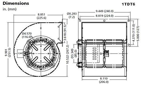 dayton 1tdt6 psc blower  2 speed  115 volts  u2013 online tools