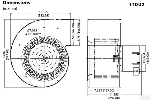 dayton 1tdu2 psc blower  115  230 volts  u2013 online tools  u0026 supply store