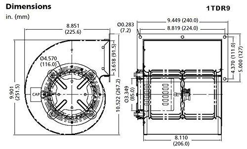 Dayton-Model-1TDR9-Blower-463-CFM-1600-RPM-115V-6050hz-4C264-4C448-0-0