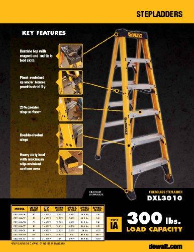 Dewalt Dxl3010 04 4 Feet Fiberglass Stepladder Type Ia