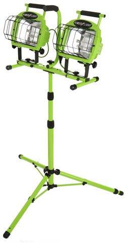 Designers-Edge-L-5502-Industrial-1400-Watt-Twin-Head-Adjustable-Work-Light-with-Telescoping-Tripod-Stand-Halogen-0