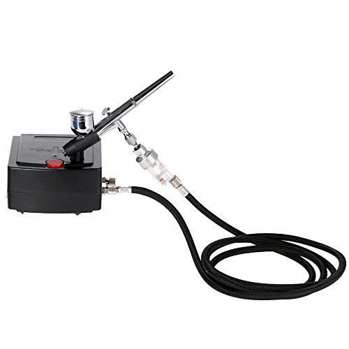 Docooler-100-250V-Gravity-Feed-Dual-Action-Airbrush-Air-Compressor-Kit-for-Art-Painting-Tattoo-Manicure-Craft-Cake-Spray-Model-Air-Brush-Nail-Tool-Set-0-0