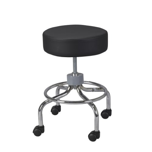 Drive-Medical-Deluxe-Wheeled-Round-Stool-Black-0-0