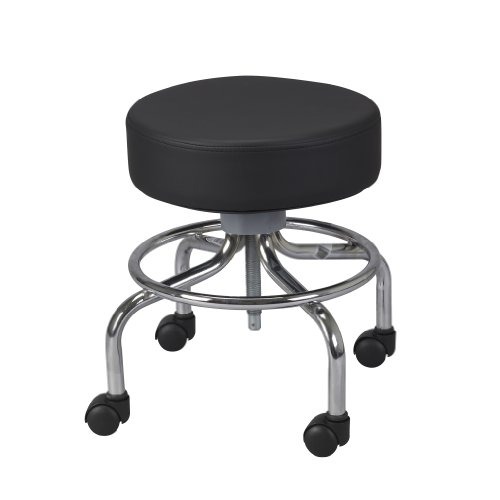 Drive-Medical-Deluxe-Wheeled-Round-Stool-Black-0